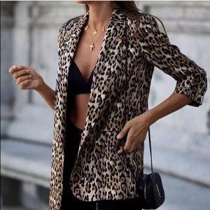 NWT Zara Animal Print Blazer
